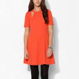 UO Silence Noise Hart Shoulder Cutout Skater Dress